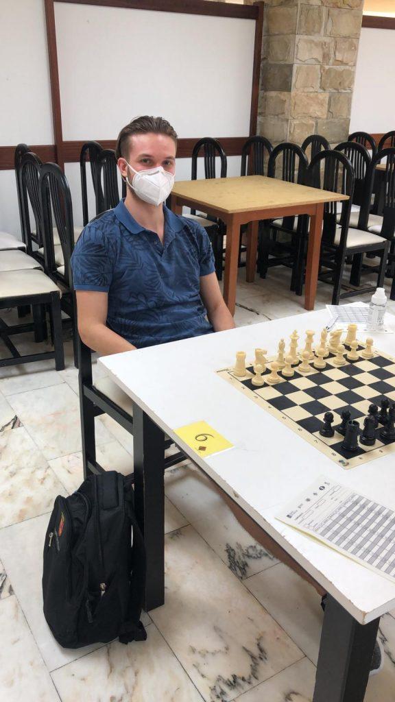 Luis Guerrero Méndez disputando el Campeonato Absoluto Gallego 2020
